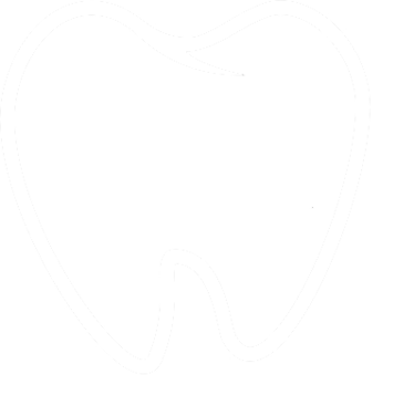 white tooth outline