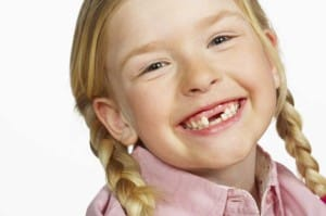 childs loose tooth